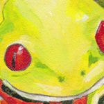 Frog on polyester canvas featured image