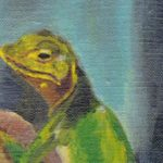 Lizard on linen featured image