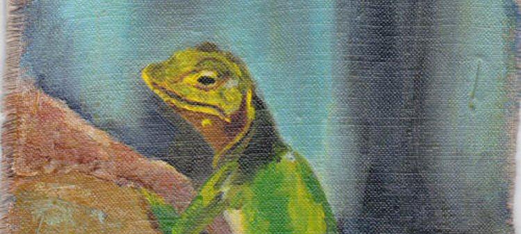 Lizard on Linen