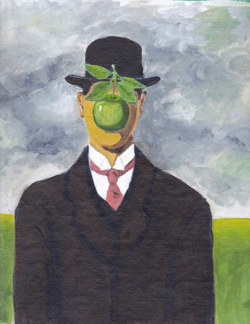 After Magritte, The Son of Man