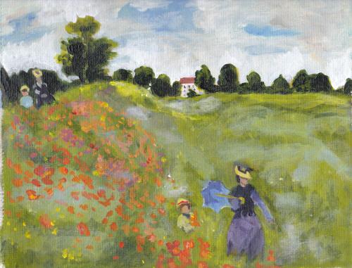 After Monet's Poppy Field