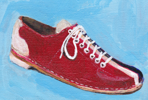 Ten Pin Bowling Shoes on Linen