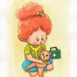 teddy's health original watercolour