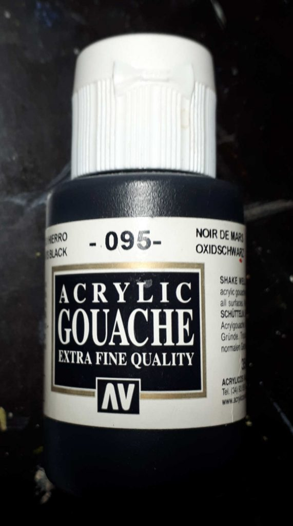 Black Acrylic Gouache