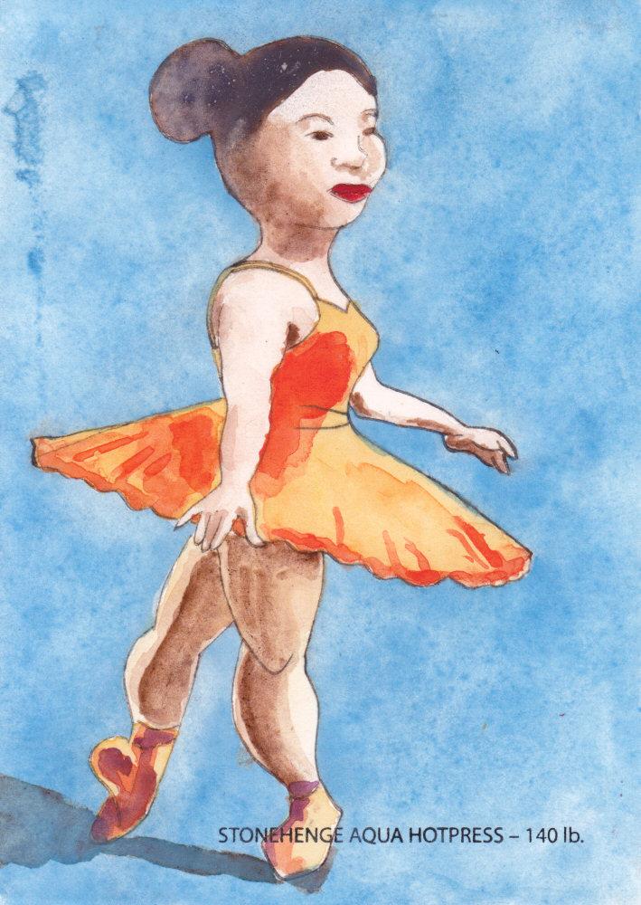 Ballerina in Orange