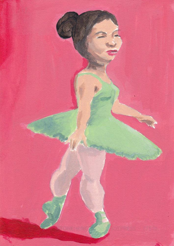 Ballerina in Green