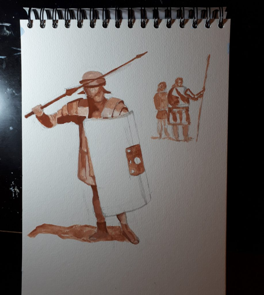 First Stage of Roman Legionary Painting