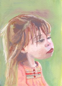 Caricature of a Little Girl