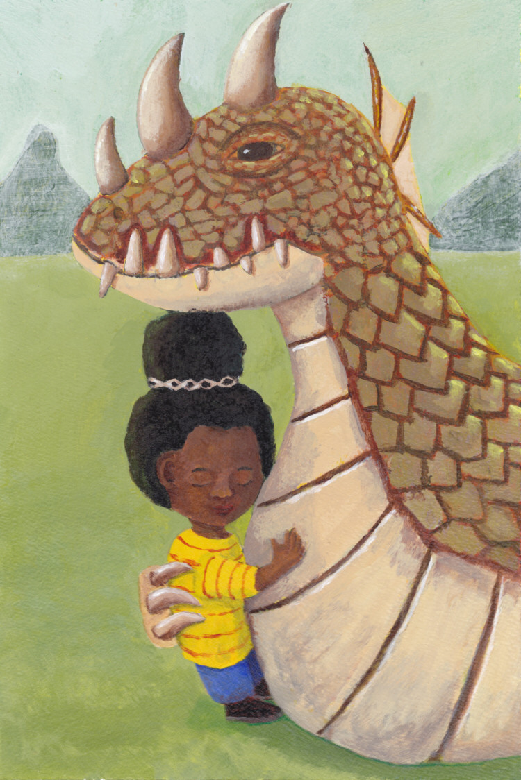 Little Girl and Guardian Dragon