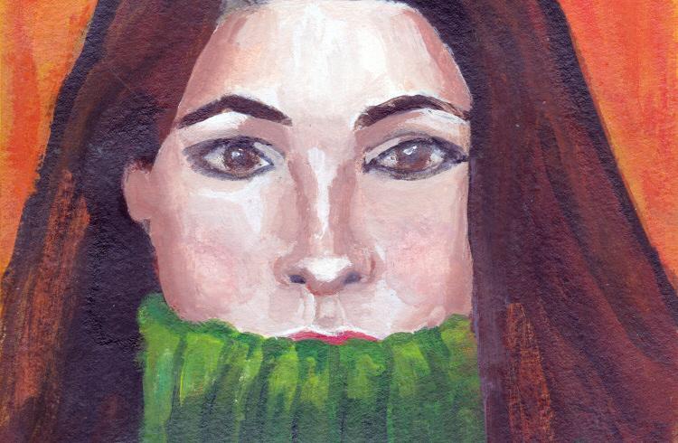 Green Turtleneck