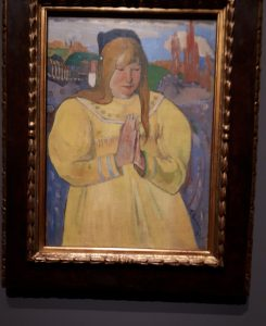 Young Christian Girl - Painting by Paul Gauguin