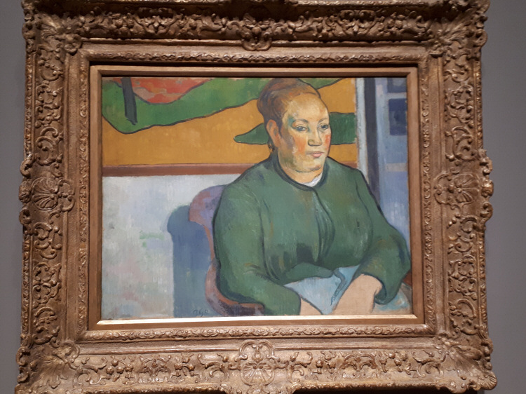 Portrait of Madame Roulin - Painting by Paul Gauguin