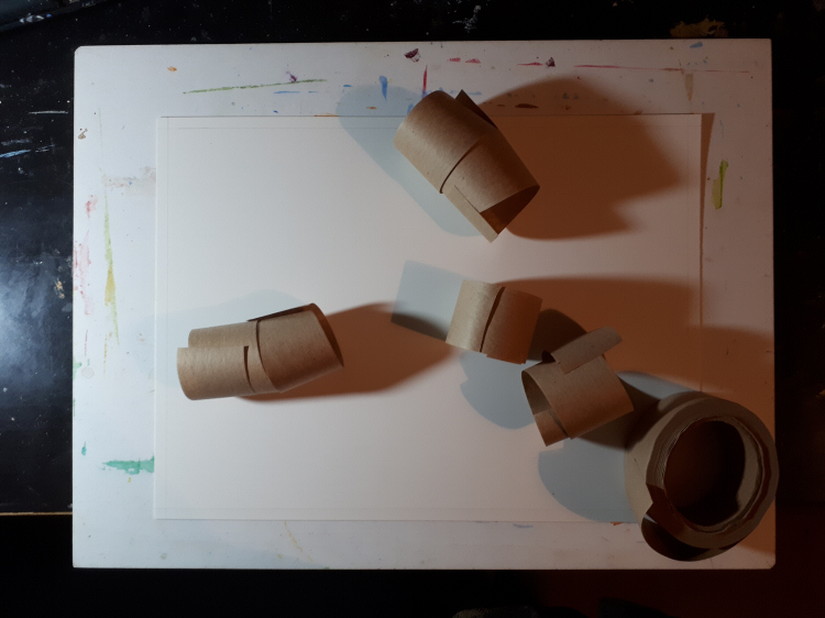 board, paper and tape for stretching watercolour paper