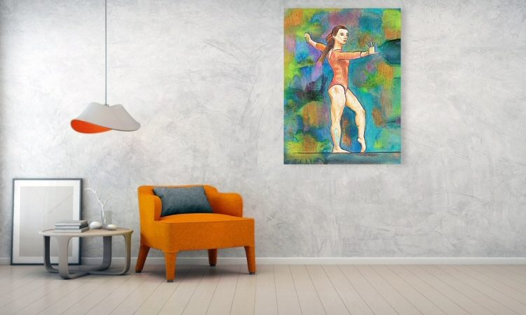 A Winning Gymnast Wall Art