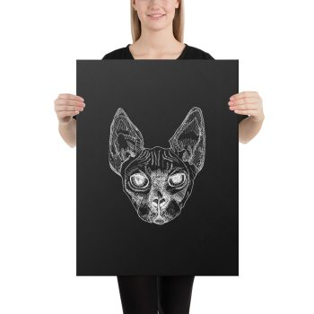 Sphynx Cat Canvas Print Wall Art