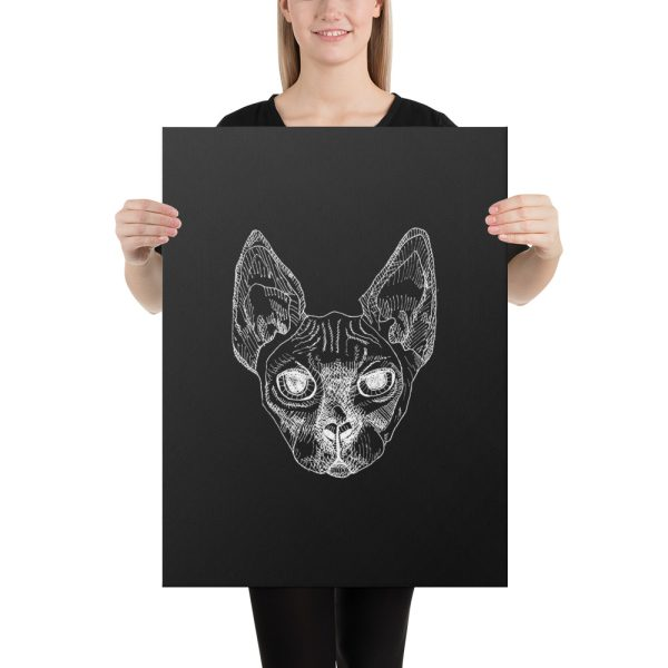 Sphynx Cat Canvas Print Wall Art