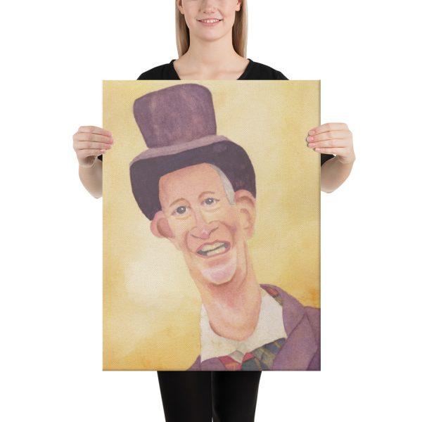 Victorian Man in Top Hat Canvas Print Wall Art
