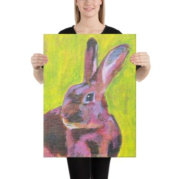 Red Belgian Hare Rabbit Canvas Print Wall Art