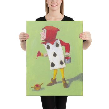 Alice in Wonderland, the 5 of Spades Canvas Print Wall Art