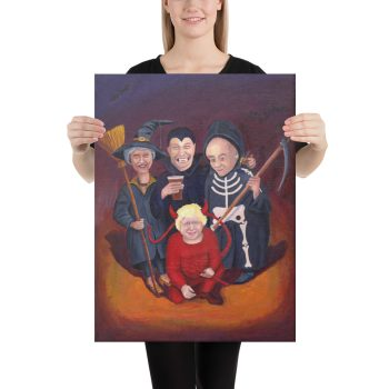 Brexit Halloween Canvas Print Wall Art