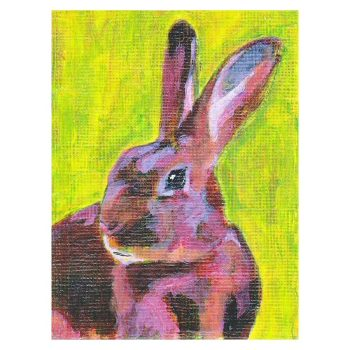 Red Belgian Hare Painting Poster Print Wall Art