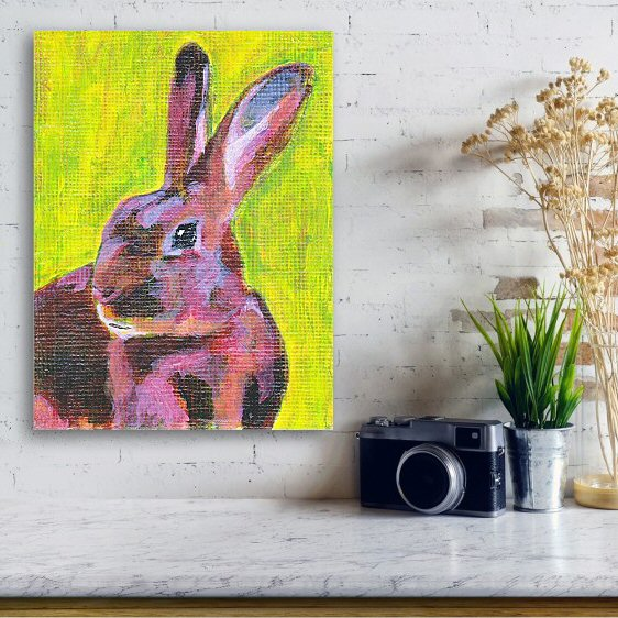 Red Belgian Hare Canvas Print Wall Art