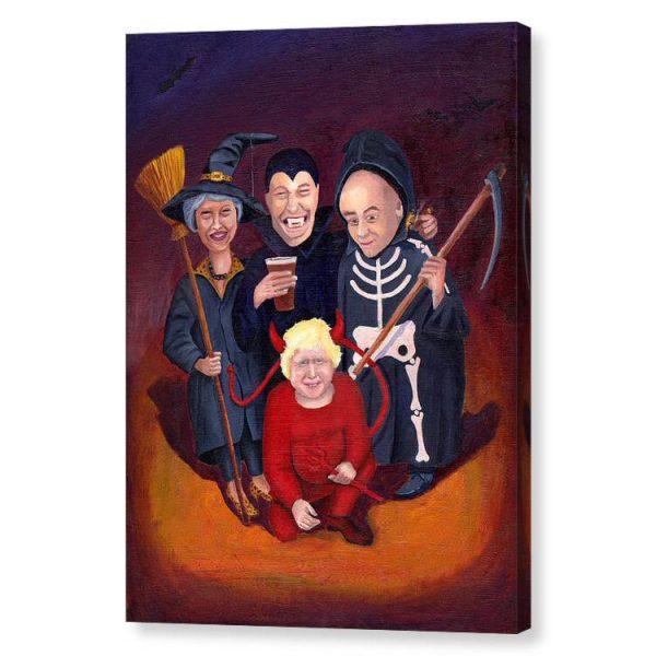 Brexit Halloween Canvas Print Wall Art 12x16