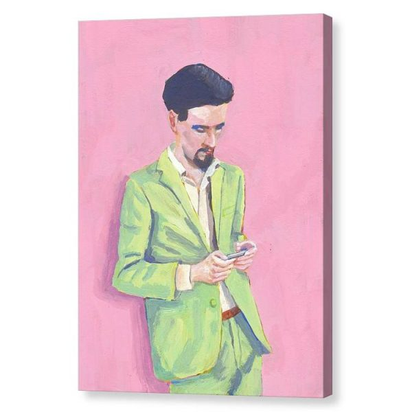 Cool in Green Canvas Print Wall Art
