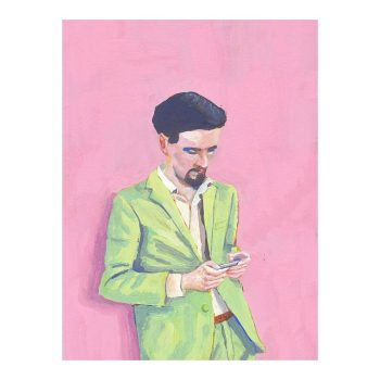 Cool in Green, Portrait Painting, Poster Print Wall Art