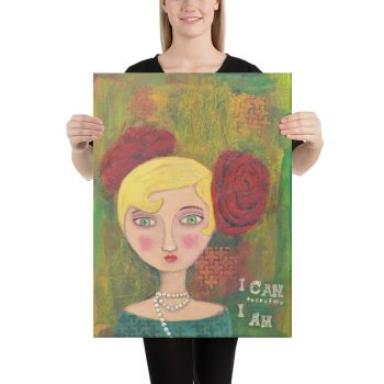 Mixed Media Lady Canvas Print Wall Art