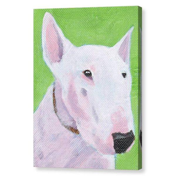 English Bull Terrier Canvas Print Wall Art