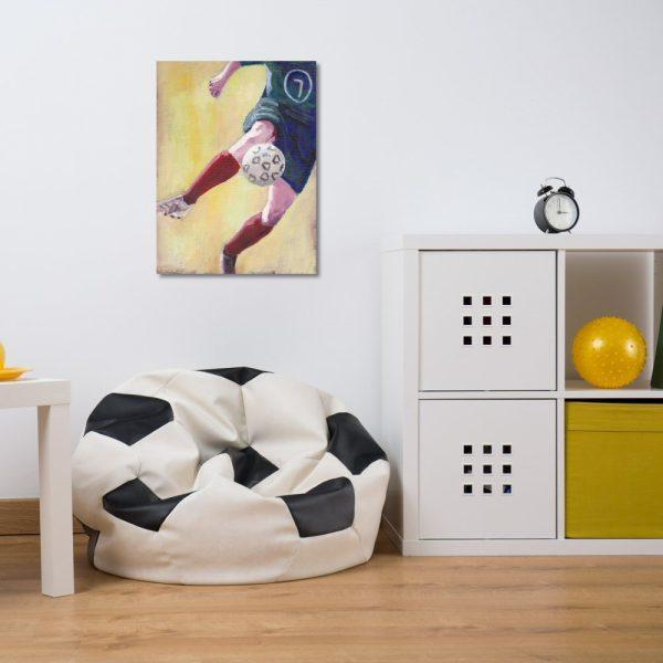 Footballer in red socks canvas wall art