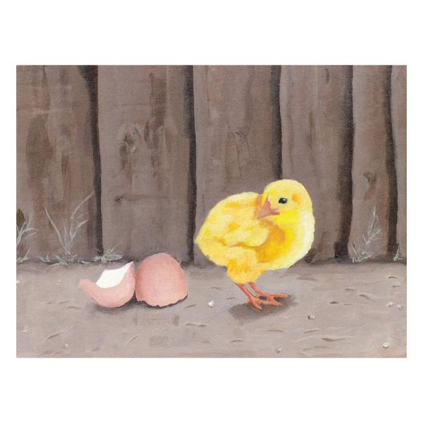 Just Hatched Painting Poster Print Wall Art