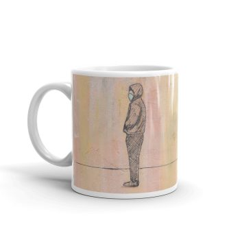 Social Distancing Standing with Face Mask 11oz Ceramic Coffee Mug