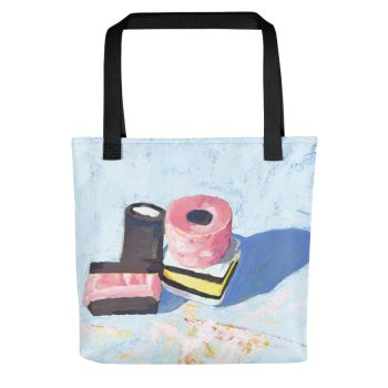 Liquorice Allsorts on Blue Tote Bag