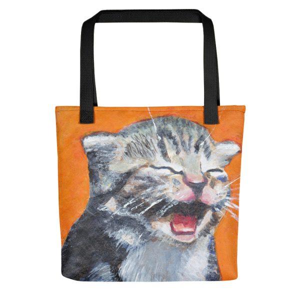 Cute Laughing Kitten Tote Bag