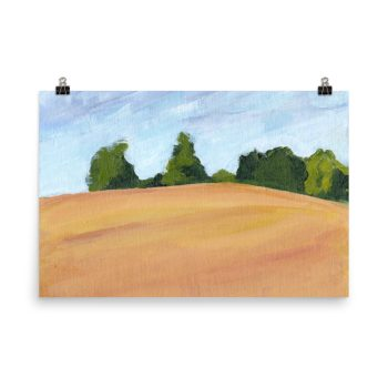 Kent Countryside Landscape Painting Poster Print Wall Art