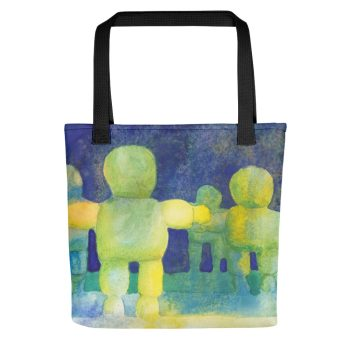 Arms Wide Watercolour Texture Tote Bag
