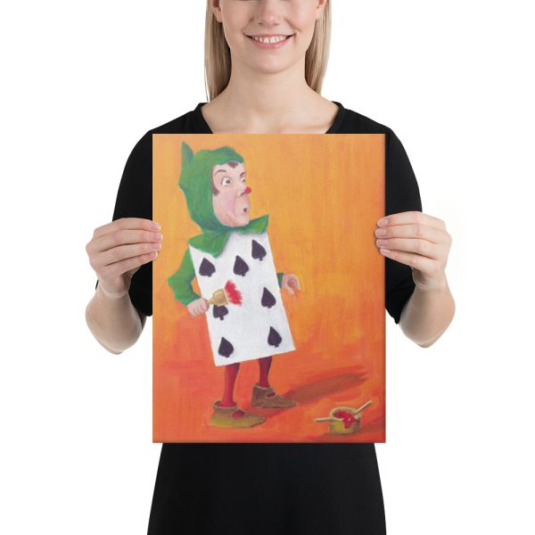 Alice in Wonderland, the 7 of Spades Canvas Print Wall Art