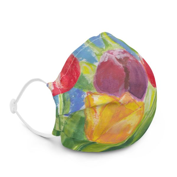 Colourful Tulips Face Mask
