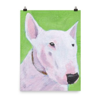 English Bull Terrier Painting Poster Print Wall Art