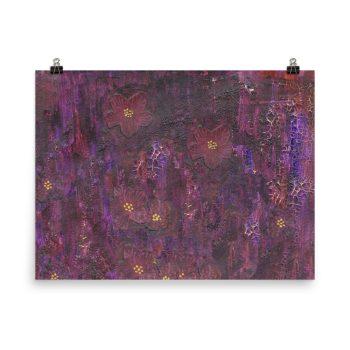 Purple Mixed Media Texture Poster Print Wall Art