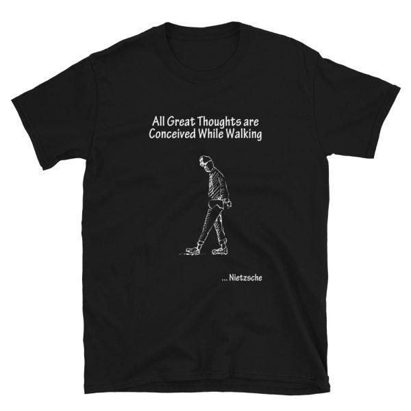 Black tshirt   Nietzsche Quote T-shirt