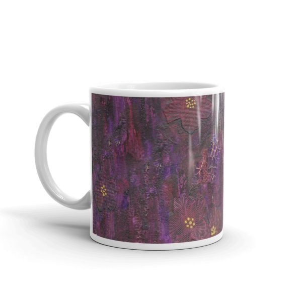 Purple Mixed Media Texture 11oz Ceramic Coffee Mug
