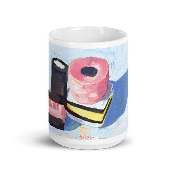 Liquorice Allsorts on Blue 15oz Ceramic Coffee Mug