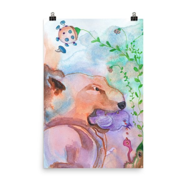 The Purple Bird Poster Print Wall Art