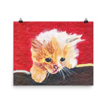 Naughty Kitten Poster Print Wall Art