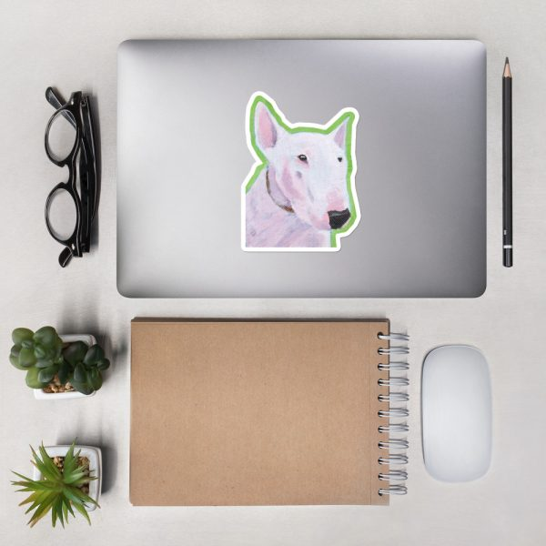 English Bull Terrier Sticker | 5.5 x 5.5 inch Kiss Cut Vinyl Sticker