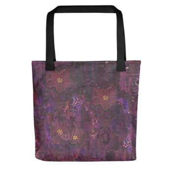 Purple Mixed Media Texture Tote Bag
