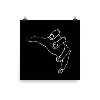 The Reaching Hand Drawing Poster Print Wall Art